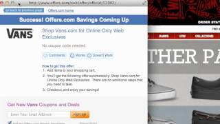 How To Use Vans Coupons \u0026 Coupon Codes
