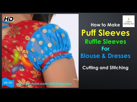How to Make Puff Sleeves || Puff Sleeves Cutting and Stitching || Puff Sleeves for Saree Blouse