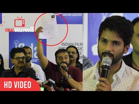 Udta Punjab Banned | Shahid Kapoor And Anurag Kashyap Reaction | Full Speech | Press Conference