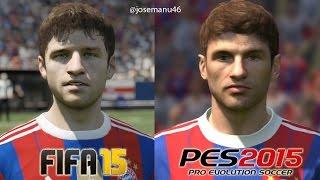 FIFA 15 vs PES 2015 BAYERN MUNICH Face Comparison