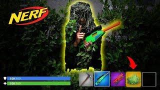 NERF *Fortnite IRL* Bush Hide & Seek in the Dark!!