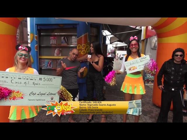 Reginaldo Augusto, da Praia Grande, levou 5 Mil Reais 💰