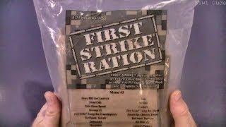 MRE Review - First Strike Ration - Menu 3 (Part 1: Quick Look)