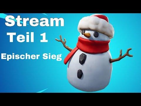 PS4 Fortnite Stream Neues Schneemann Update Zocken Deutsch