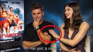 Zac Efron Can't Control His Affection for Alexandra Daddario