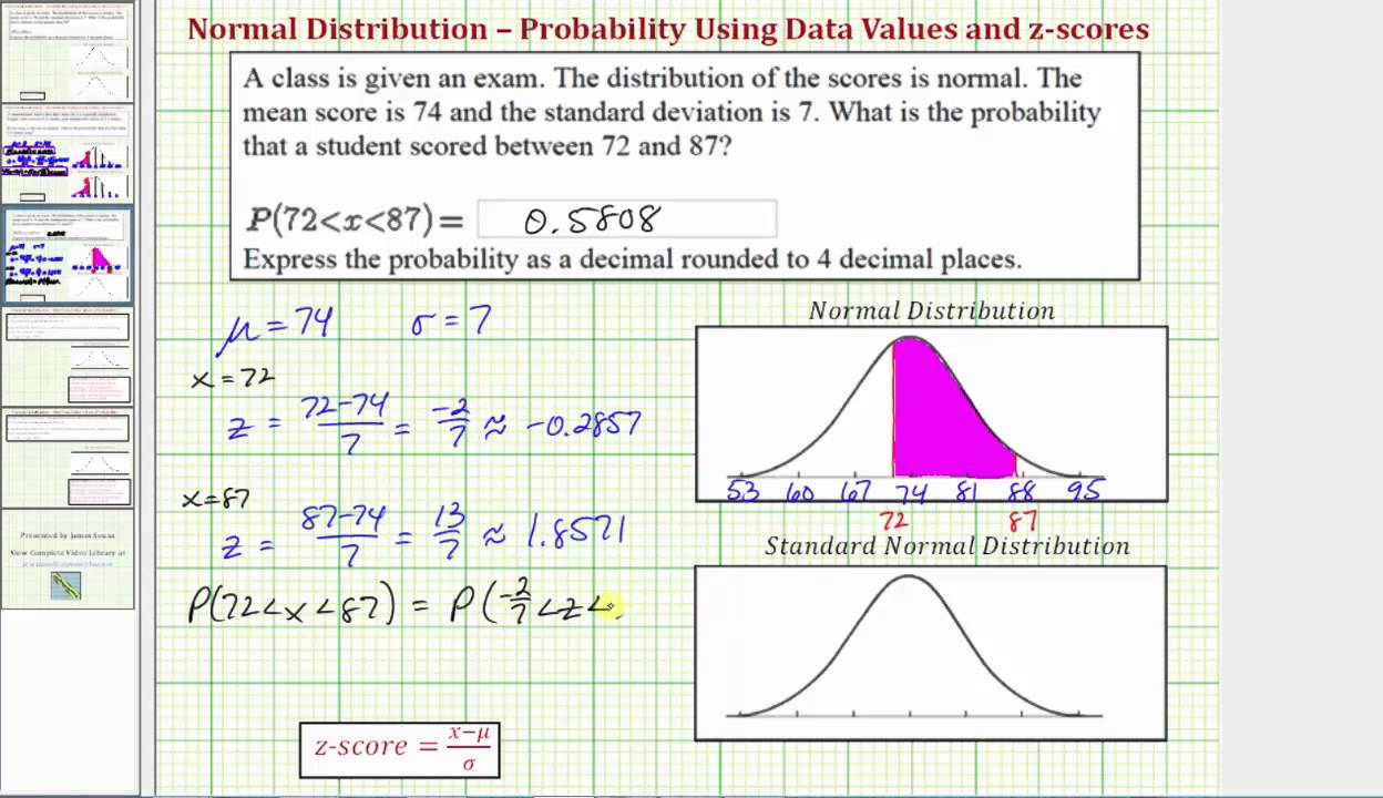 Ex 3: Find A Probability Using Ti84 Given A Data Value Involving A Normal  Distribution How To Calculate Standard Deviation