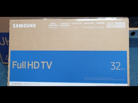 "Samsung 32"" 5 Series Smart TV Unboxing And Setup"