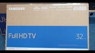 Samsung 32 quot 5 Series Smart TV Unboxing and Setup