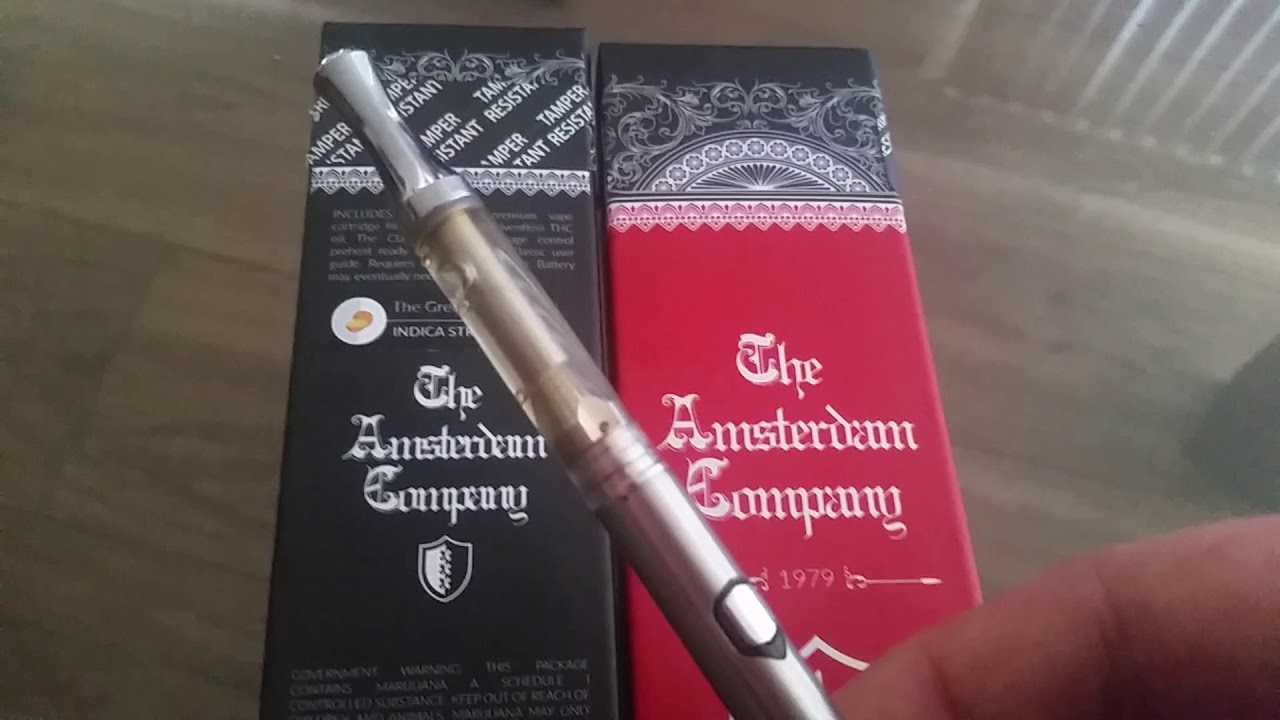 Review & Unbox The Amsterdam Company THC live resin vape pen The Great  Tangie