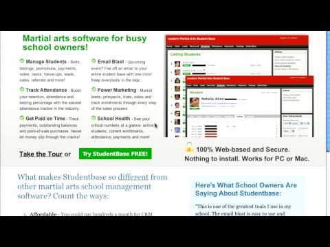 Martial arts software - Studentbase