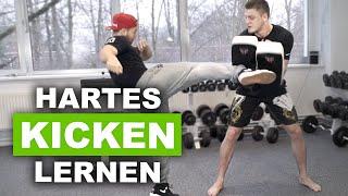 Hartes kicken lernen - mit Kickbox Weltmeister Michael Smolik
