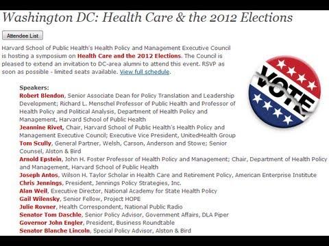 Washington DC: Health Care & the 2012 Elections