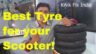 Best Tyre for Activa, Access, Burgman, Aviator,  Dio  & TVS Jupiter!