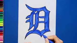 How to draw and color the Detroit Tigers - MLB Team Series