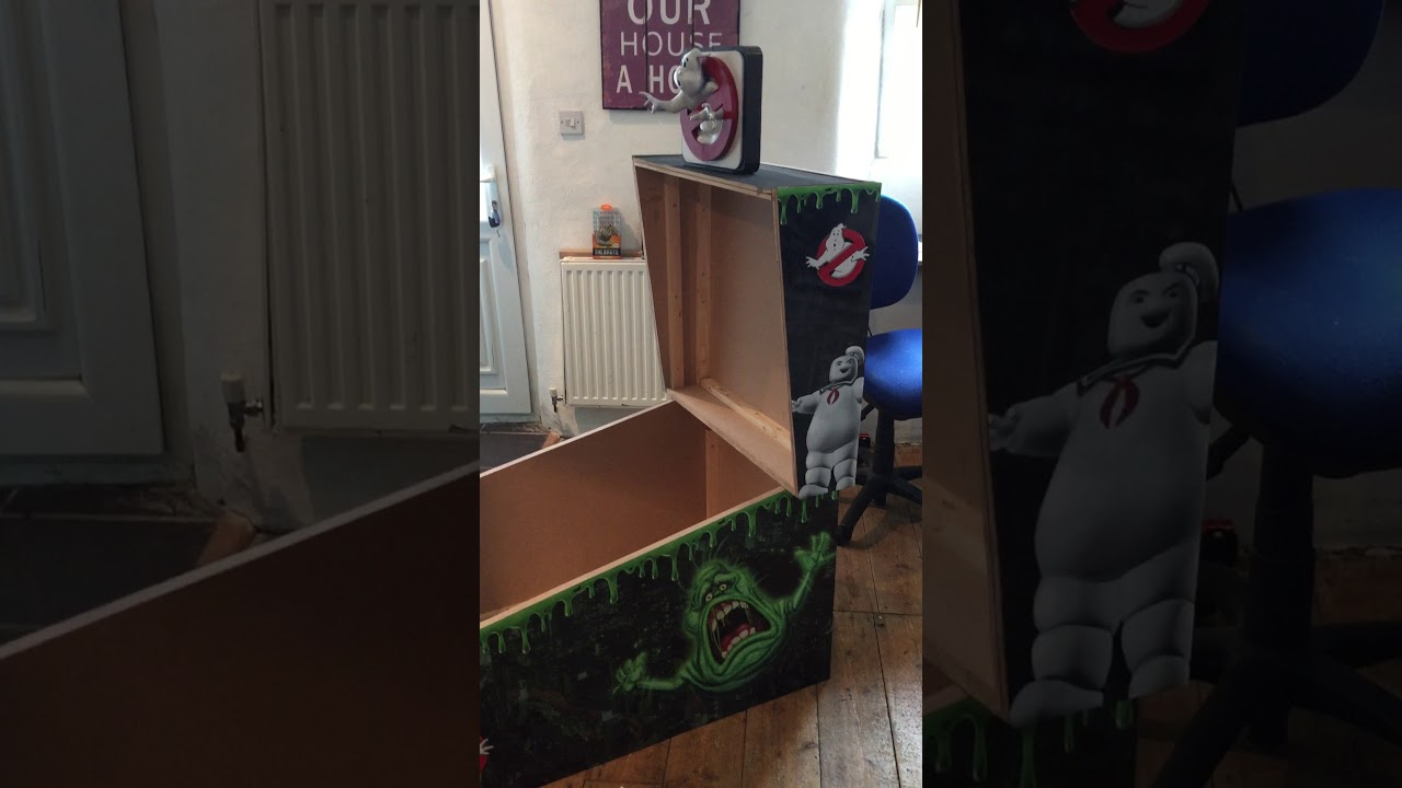 Ghostbusters SLIMER virtual pinball machine with 3D topper