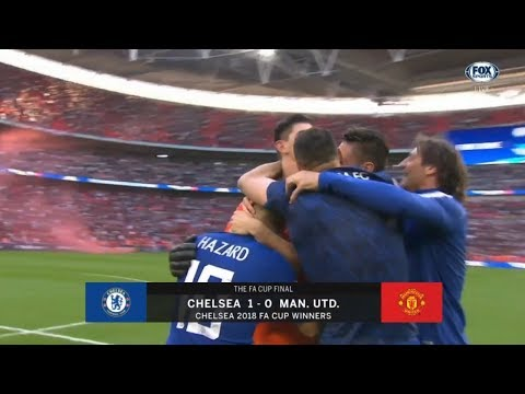 CHELSEA VS MANCHESTER UNITED 1-0 2018 FULL GAME FA CUP FINAL REACTION!!!