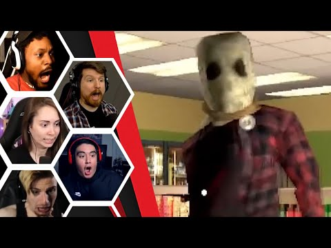 Let's Players Reaction To Night Shift Jumpscare (Ending) | Night Shift