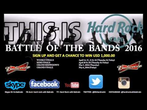 Battle of the bands and Rock Box TVC Hardrock cafe Bahrain