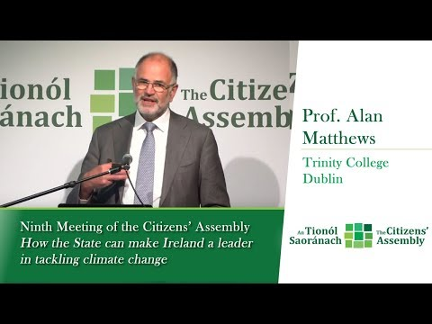 Alan Matthews ~ If Ireland was a leader in tackling climate change -  Agriculture/ Land use Policy