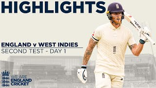 Day 1 Highlights | Stokes & Sibley Bat Strong At Old Trafford | England v West Indies 2nd Test 2020