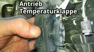 Stellmotor Temperaturklappe Warmluft / Kaltluft ausbauen - Skoda Fabia - VW Polo 9N