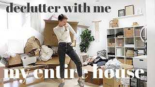 Declutter Our ENTIRE HOUSE With Me! MINIMALISM