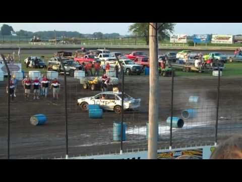 Car Bowling at the Lee County Speedway