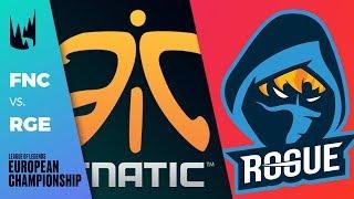 FNC vs Rogue - LEC 2019 Spring Split W3D1 - Fnatic vs Rogue