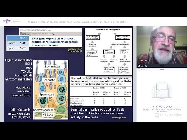 Prof.Dr. Kaan Aydos - Azospermik erkekleri değerlendirirken hangi güncel Genetik Testler kullanılır?