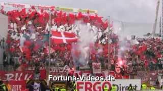 Fortuna in Fürth am 29.04.2012; 1:1 (Pyro-Intro, Torjubel, Platzsturm)