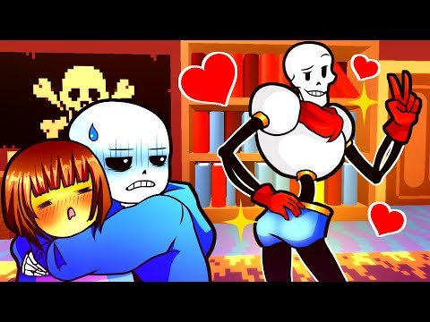 FRISK & PAPYRUS SWAP BODIES! Funny Undertale AU Animation Roleplay