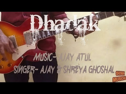 Dhadak Title track|Guitar chords|Lesson|Dhadak|Shreya Ghoshal|Ajay Atul|Think musical