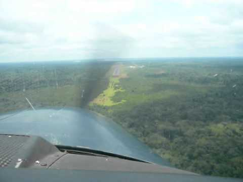 Landing at Mbandaka Airport, DR Congo