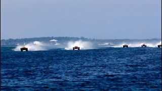 Offshore Powerboat Racing on Clearwater Beach, Florida