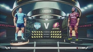 Rugby League live 2 Gameplay State of Origin game 1