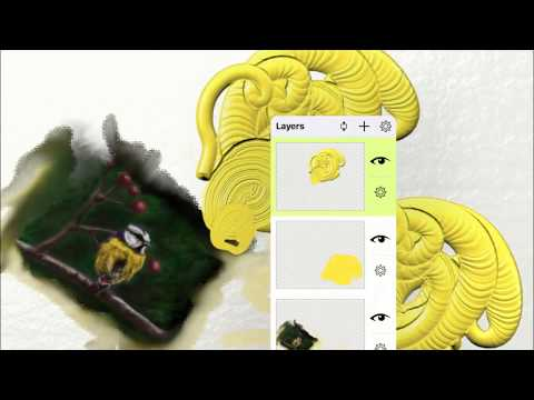 Layers Options in ArtRage for iOS