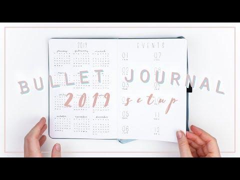 Bullet Journal 2019 setup