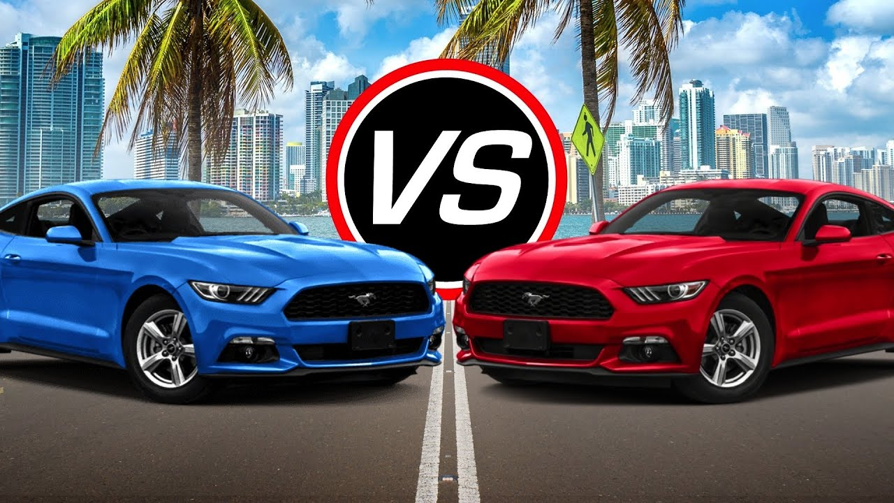 What Is Ecoboost >> 2016 Ford Mustang EcoBoost i4 vs Mustang V6 - Spec Comparison! - YouTube