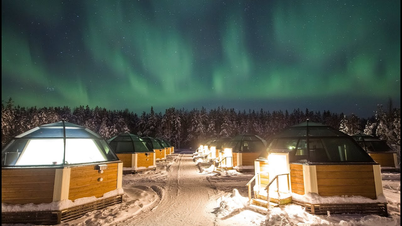 Discovering Northern Lights In Arctic Glass Igloos In Rovaniemi In Lapland  Finland   YouTube