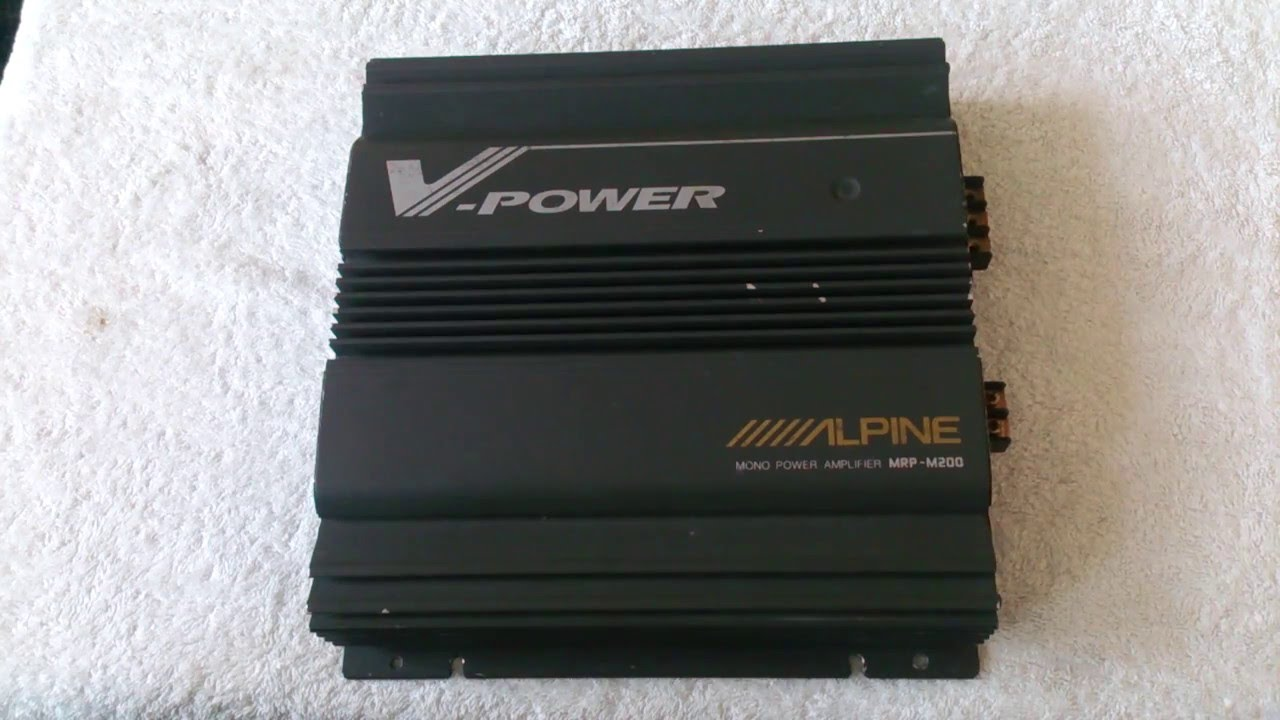 Alpine Mrpm200 Amplifier (old School) Over View