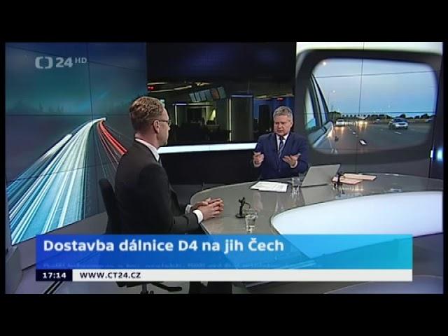 Dostavba dálnice D4 na jih Čech - Tomáš Janeba na ČT24