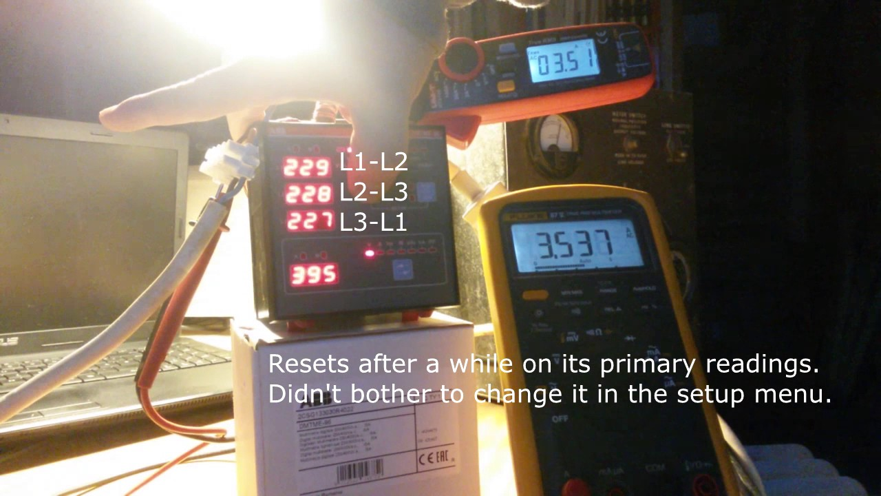 quick test abb dmtme 96 with custom current transformer [ 1280 x 720 Pixel ]