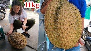 Quả sầu riêng khổng lồ nhất Việt Nam nặng 11kg có ngon không ???