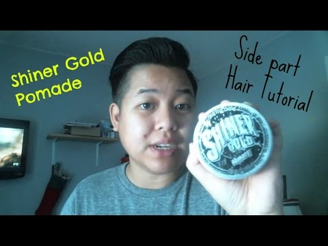 Quick Side Part Pomp | Shiner Gold Pomade | Thick Hair   YouTube