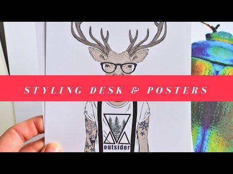 Metamorfoza biurka, moodboard i nowe plakaty.