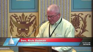 Sen. Outman addresses the Senate on adopting CISA guidelines (SR 112)
