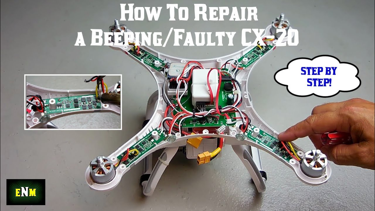 How To Repair A Beeping Faulty Cx 20 Or Phantom Quadcopter Youtube Wiring Guide