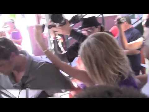 Black Eyed Peas singer Fergie real name Stacy Ann Ferguson smiles for photographers