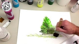 How to Paint with Acrylics Step by Step 1 Materials and Paint an Easy Tree