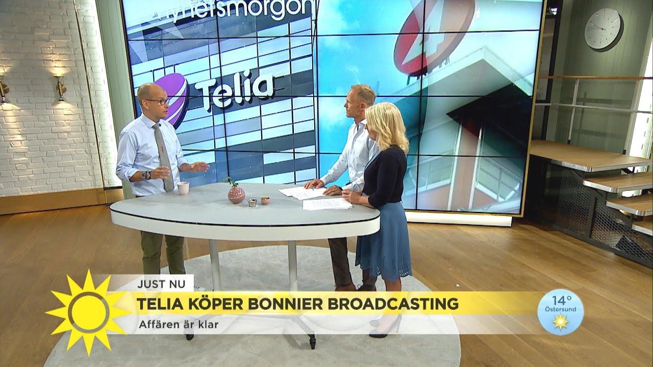 Telia köper Bonnier Broadcasting – detta händer nu  - Nyhetsmorgon (TV4)